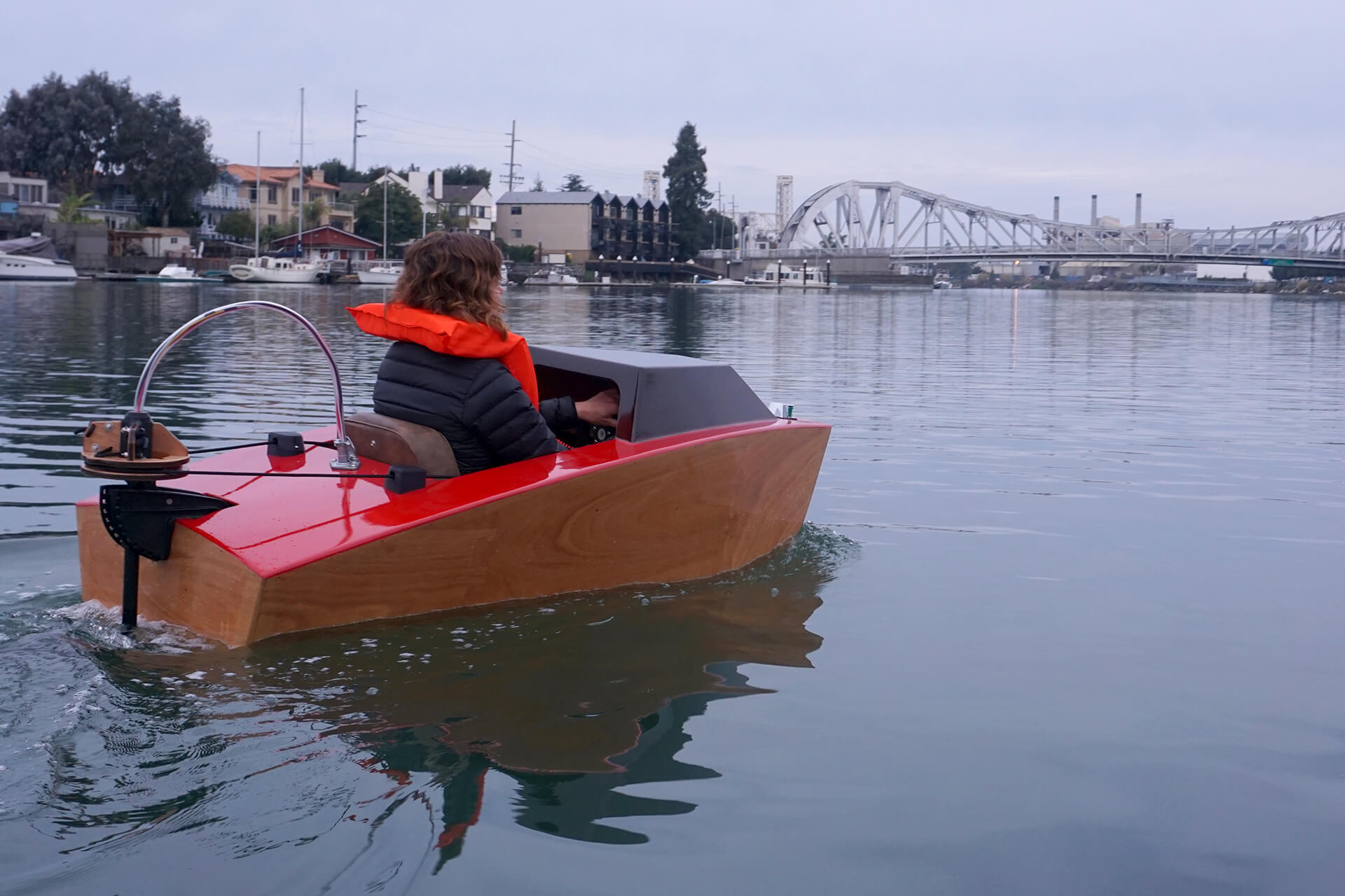 Mini Boat Rapid Whale Shakespeare Trolling Motor Wiring Diagram Erika Riding Towards The Bridge At First Launch Of Electric